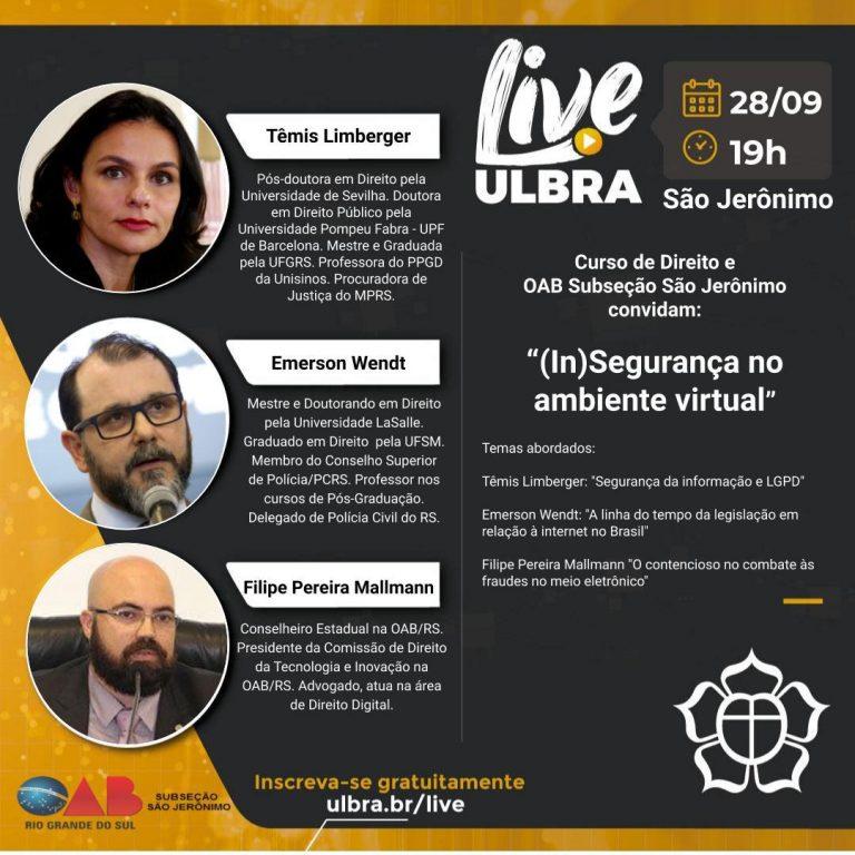 Mallmann é palestrante sobre segurança no ambiente virtual em evento da Ulbra